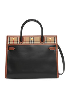 Medium Leather Vintage Check Title Bag