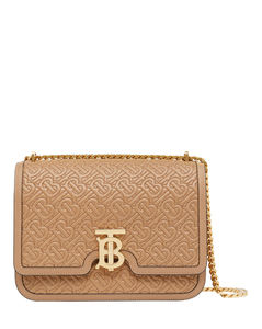 Medium Quilted Monogram Lambskin TB Bag
