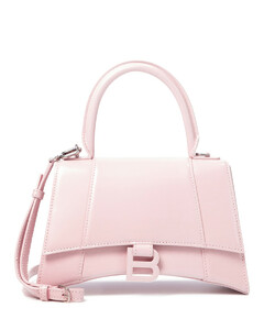Hourglass Small leather tote