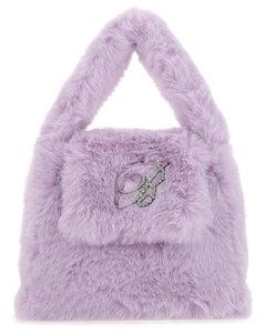 Lilac eco fur handbag