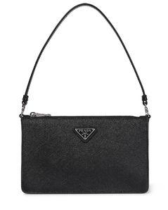 Mini saffiano-leather shoulder bag