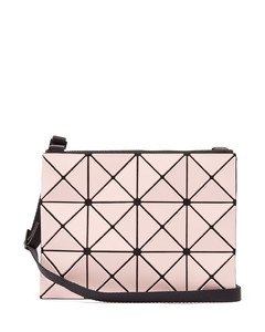 Lucent bi-colour PVC cross-body bag