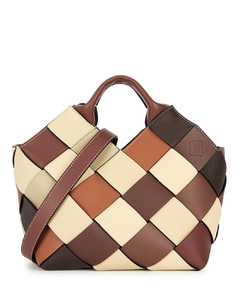 Small woven leather bag