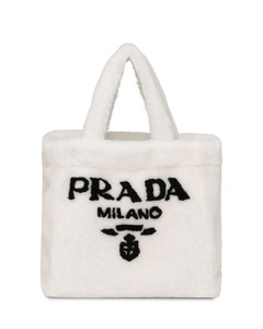 Printed coated canvas tote