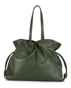 Flamenco XL forest green leather tote