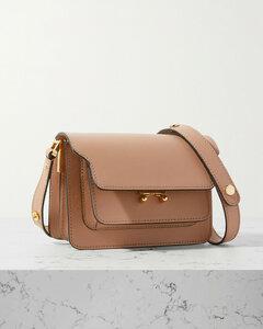 Trunk Mini Textured-leather Shoulder Bag