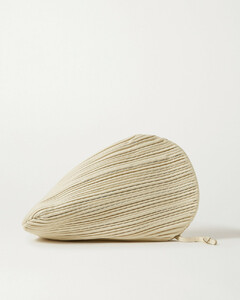 Pluto Pleated Leather Clutch
