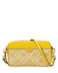 T Monogram Jacquard Double-zip Mini Bag