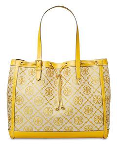 T Monogram Jacquard Tote Bag