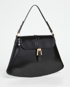 Portia黑色半漆皮包