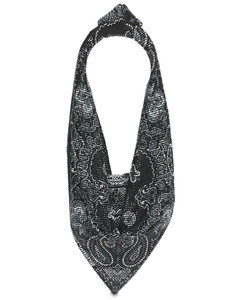 Rhinestone Bandana Scarf Top Handle Bag