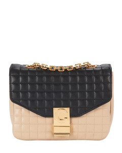 Small C Bag In Bicolour Quilted Calfskin