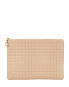 C Charm Pouch In Quilted Calfskin