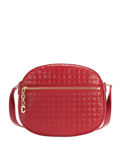 Medium C Charm Bag In Quilted Calfskin