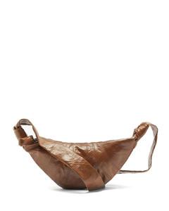 Croissant small coated-linen cross-body bag