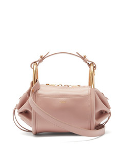 Hailey mini leather shoulder bowling bag