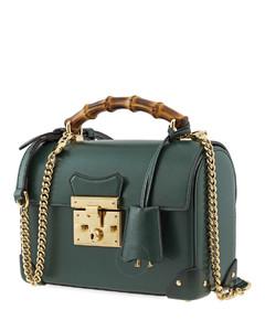 Small Padlock Bamboo Shoulder Bag