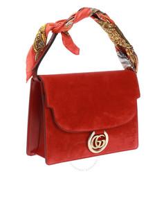 Scarf-detail Shoulder Bag