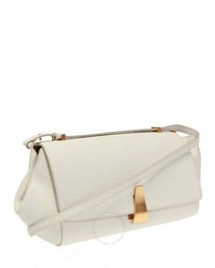 Ladies BV Angle Shoulder Bag in White