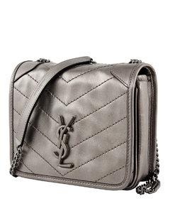 Grey Logo Cross Body Bag