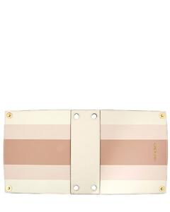 Medium Satchel Double Sided Cover- Ecru/Pink