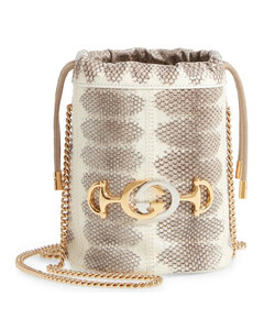 Zumi Snakeskin Mini Bucket Bag