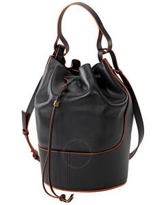 Black Large Balloon Bag In Nappa Calfskin