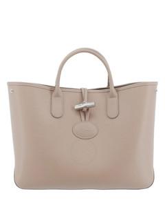 Ladies Roseau Leather Tote Bag-Clay