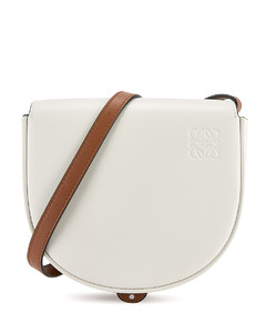 Duo Heel white leather cross-body bag