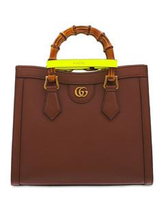 Diana Leather & Bamboo Top Handle Bag