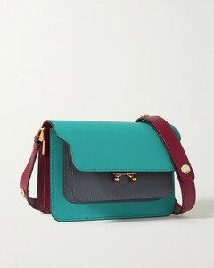 Trunk Mini Color-block Textured-leather Shoulder Bag