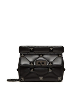 MEDIUM BAG WITH CHAIN ROMAN STUD THE SHOULDER BAG IN NAPPA WITH STUDS TONE ON TONE