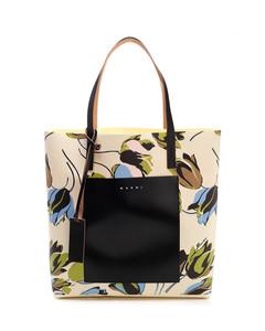 Windblown printed tote bag