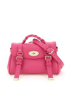 Leather Bucket Bag In Grey