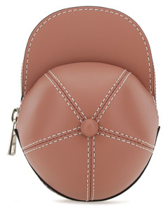 Antiqued pink leather nano Cap crossbody bag