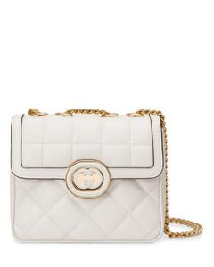 Antigona small black leather top handle bag