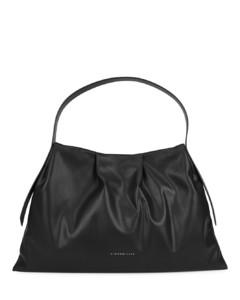 Puffin black faux leather shoulder bag