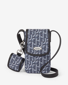 Courier jacquard phone pouch with strap