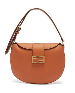 Croissant FF-logo leather shoulder bag