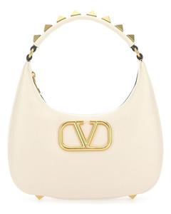 X Porter beaded fringed canvas shoulder bag
