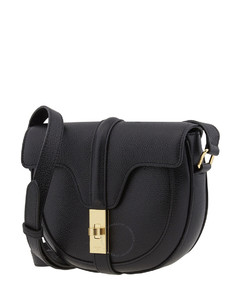 Ladies Black Grained Calfskin Small Besace 16 Bag