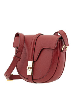 Ladies Grained Calfskin Small Besace 16 Bag