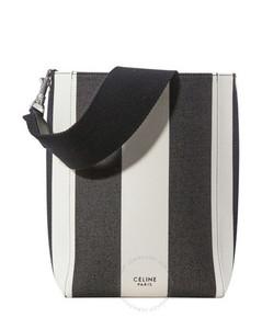 Ladies Stripe Sangle Small Bucket Shoulder Bag