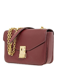 Medium C Burgundy Ladies Shoulder Bag