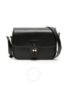 Ladies Tassels Leather Shoulder Bag In Black