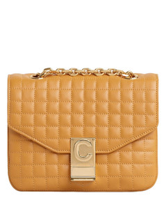 Ocre Small C Quilted Shoulder Bag