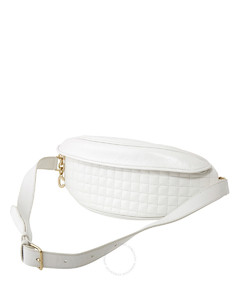 Quilted Calfskin Belt Bag- White