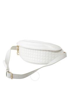 Quilted Calfskin Belt Bag- White