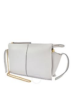 Open Box - Celine Grey Tri-fold Chain Strap Clutch Bag