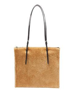 Small shearling tote bag